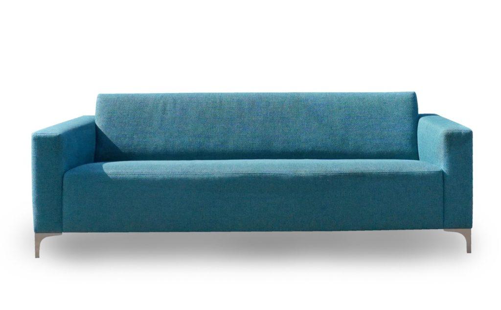 Designbank mintstraat strak modern blauw