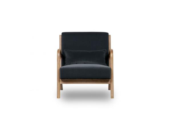 Design fauteuil Mark scandinavische stijl grijs blauw