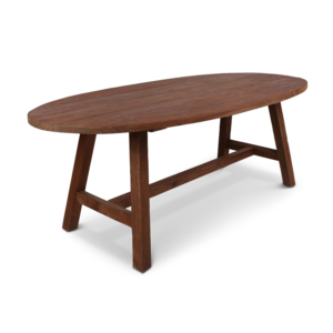 Teak houten tafel ovaal Fabian