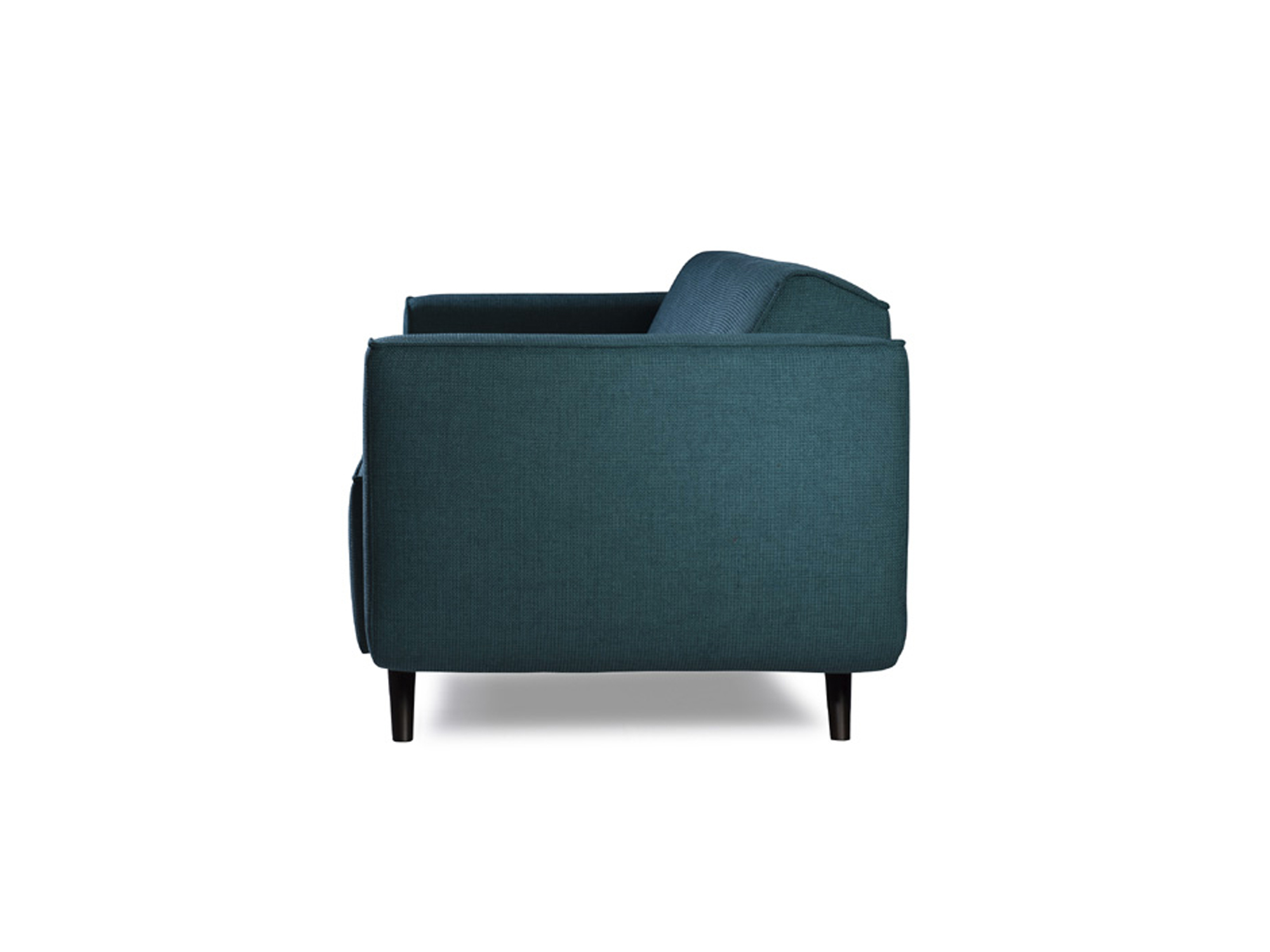 designbank_Vondellaan_petrol minimalistisch design zijkant