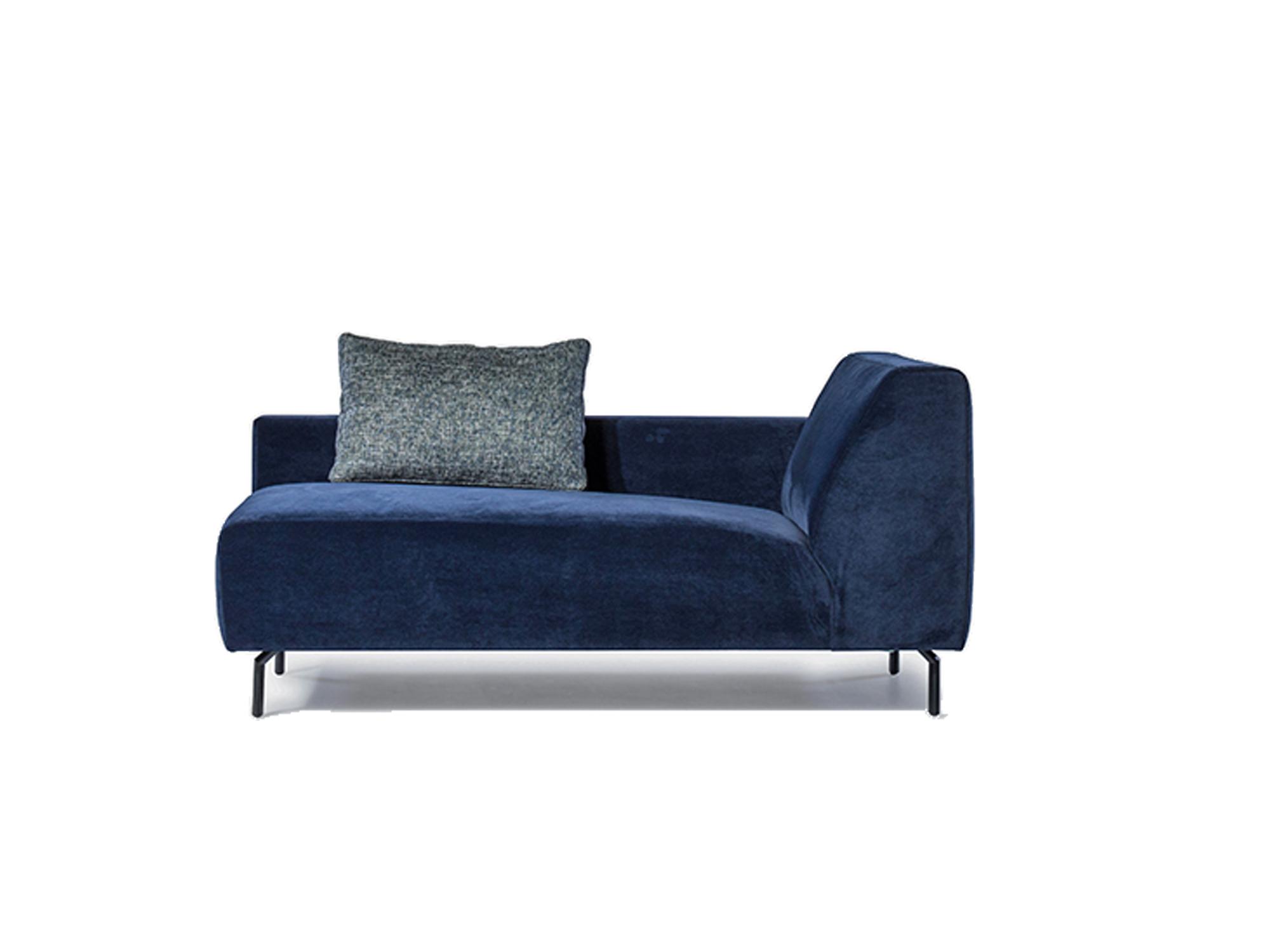 Designsofa twijnstraat donkerblauw velvet
