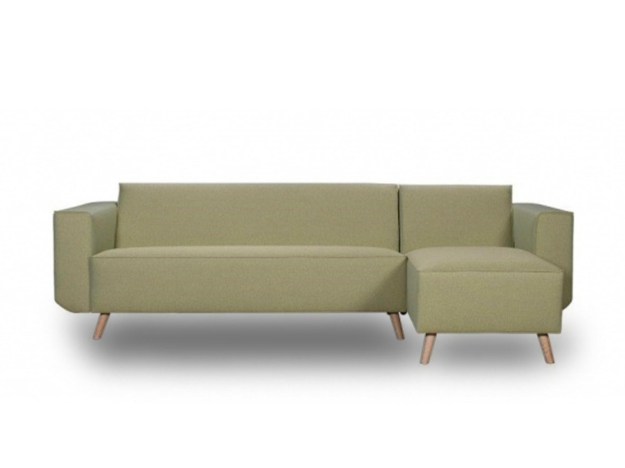 designbank Vondellaan mint groen houten poot