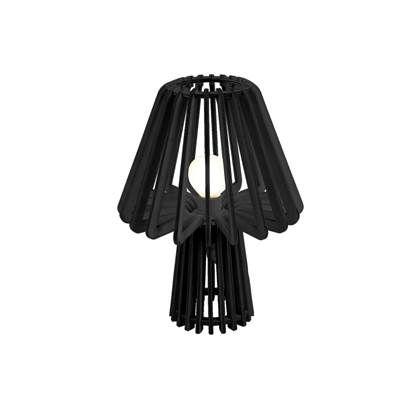 Tafellamp zwart mushroom