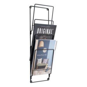 present-time zwart tijdschriftenrek