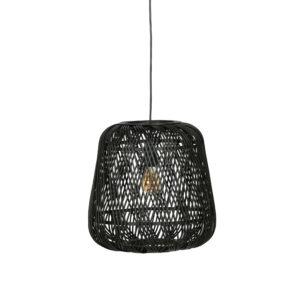 Hanglamp moza zwart riet