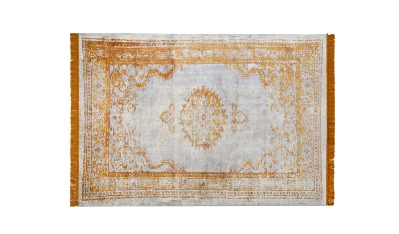 Vloerkleed marvel perzisch tapijt oker geel