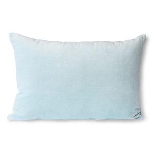 Kussen lichtblauw velvet