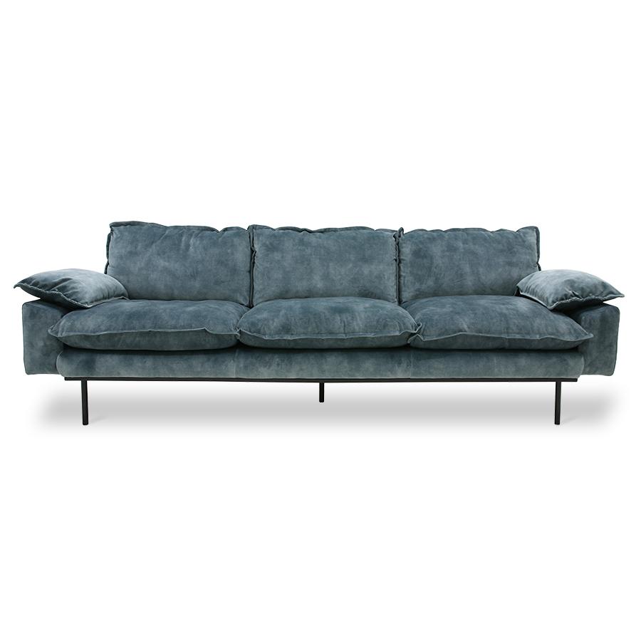 Mariaplaats 3 zits vintage velvet blue